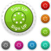 Sign up award. — Stock Vector