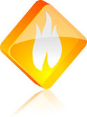 Fire button. — Stock Vector