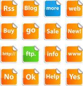 Internet stickers. — Stock Vector