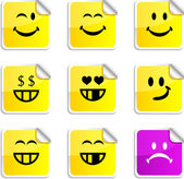 Smiley stickers. — Stock Vector