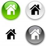 Home button. — Stock Vector