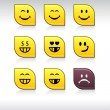 Smiley icons. - Stock Vector