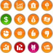 Money icons. - Stock Vector