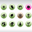 Seasons icons. - Vettoriali Stock