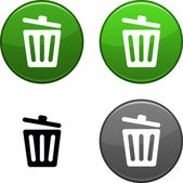Recycle bin button. — Stock Vector
