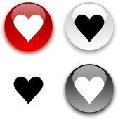 Przycisk miłości. — Wektor stockowy