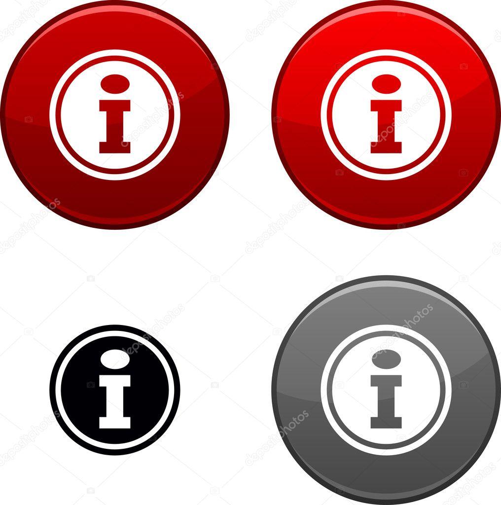 信息按钮 — 图库矢量图片 #5413541