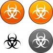 Virus button. — Stock Vector