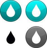 Rain button. — Stock Vector