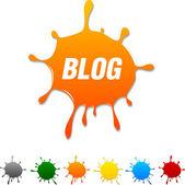 Blog blot. — Stock Vector