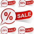 Royalty-Free Stock Imagen vectorial: SALE red tags.