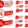 Royalty-Free Stock Vector Image: SALE red tags.
