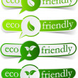 Eco friendly green tags. — Vettoriale Stock
