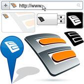 Original e-plug design element. — Stock Vector