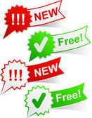 New and free tags. — Stock Vector