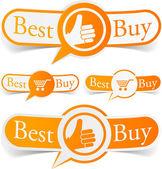 Best buy orange tags. — Stock Vector
