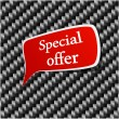 Special offer Speech announcement. — Imagen vectorial