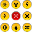 Warning icons. — Stock Vector
