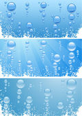 Bubbels in water. — Stockvector