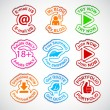 Set of color labels. - Stock Vector