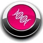DNA 3d round button. — Stock Vector #6068495