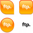 Stock Vector: FTP glossy button.