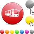 Bus glossy button. — Stock Vector #6069867