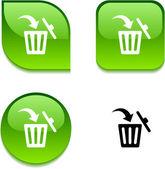 Delete glossy button. — Stock Vector