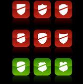 кнопки щита. — Cтоковый вектор