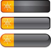 Sun button set. — Stock Vector