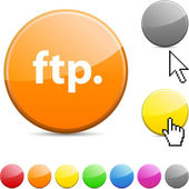 FTP glossy button. — Stock Vector