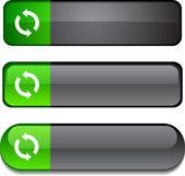 Refresh button set. — Stock Vector
