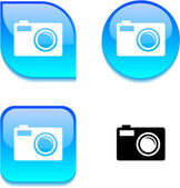Photo glossy button. — Stock Vector