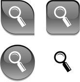Hledání lesklý tlačítko. — Stock vektor