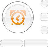 Alarm-clock white button. — Stock Vector