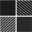 Carbon pattern set. - Stock Vector