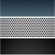 Royalty-Free Stock Vector Image: Metallic pattern set.