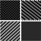 Carbon pattern set. — Stock Vector