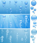 Bubbles in water. — Stock Vector