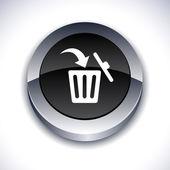 Borrar botón 3d. — Vector de stock