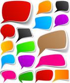 Set of color speech designs. — Stock Vector