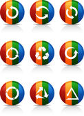 Arrows buttons. — Vector de stock
