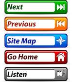 Botões web. — Vetorial Stock