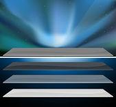 Nothern blue aurora design. — Stock Vector