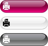 Przycisk drukowania. — Wektor stockowy