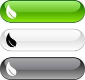 Ecology button. — Stock Vector