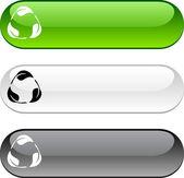 ボタンをリサイクルします。. — ストックベクタ
