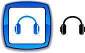 Botón de los auriculares. — Vector de stock
