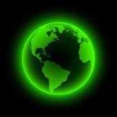 Neon ziemisymbolami firmy. — Wektor stockowy