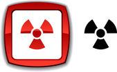 Radiation button. — Stock Vector